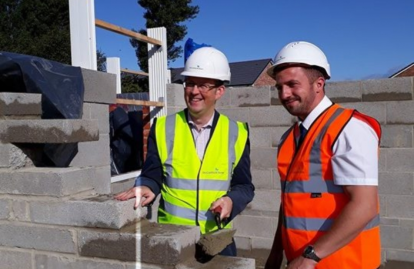 Paul at a new build developement