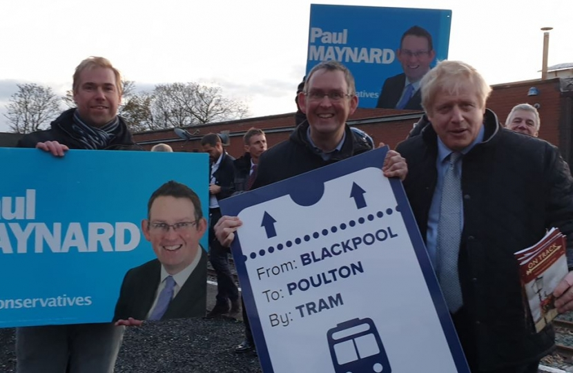 Paul with Boris at Thornton station
