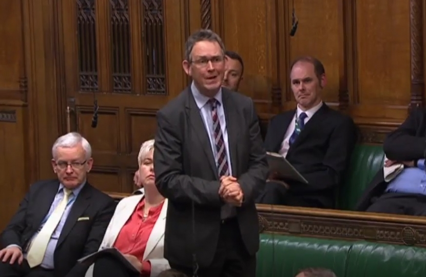 Paul raising the issue in the House of Commons