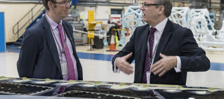 Paul on a recent visit to BAE Systems